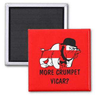 Funny English 2 Inch Square Magnet