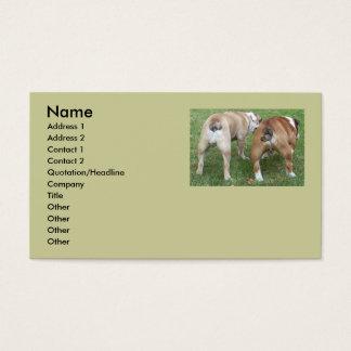 "Funny English Bulldog ""butt"" Business Cards"