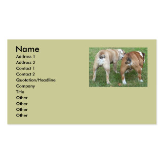 "Funny English Bulldog ""butt"" Business Cards"