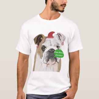 Funny English Bulldog Christmas T-Shirt