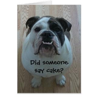 Funny English bulldog Happy Birthday Card