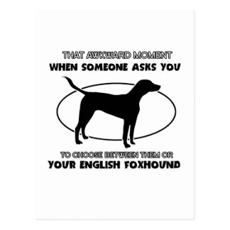 Funny ENGLISH FOXHOUND designs Postcard