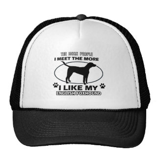 Funny english foxhound designs trucker hat