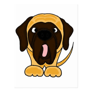 Funny English Mastiff Original Art Postcard