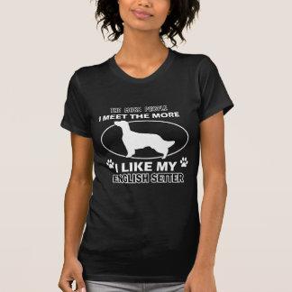 Funny english setter designs T-Shirt