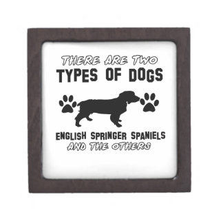Funny english springer spaniel designs premium jewelry boxes