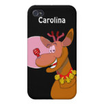 Funny Environmental Rudolph CFL Christmas Skin Covers For iPhone 4
