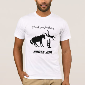 Funny Equestrian Jumping Flying Horse Air T-Shirt