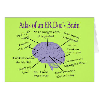 Funny ER Doctor Physician Gifts Card