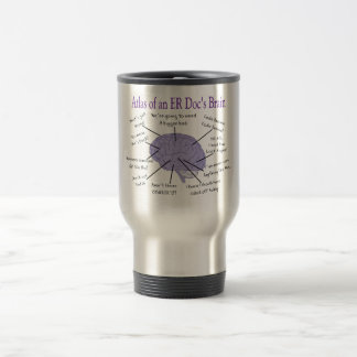 Funny ER Doctor Physician Gifts 15 Oz Stainless Steel Travel Mug