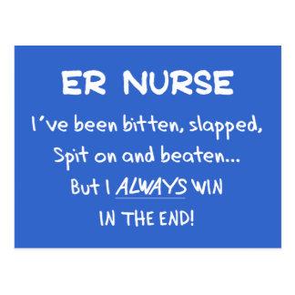 Funny ER Nurse Gifts Postcard