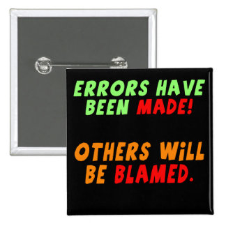 Funny Errors Made T-shirts Gifts 2 Inch Square Button