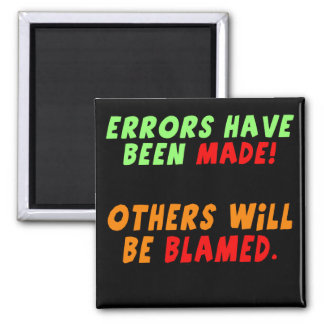 Funny Errors Made T-shirts Gifts Magnet