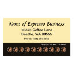 Funny Espresso Punch Card Coffee Beans Double-Sided Standard Business Cards (Pack Of 100)