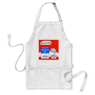 Funny Evangelical Christian Hallelujah Cartoon Adult Apron
