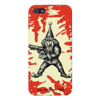 Funny evil clown pen ink drawing art case for iPhone SE/5/5s