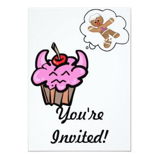 Funny Evil Cookie Killer Cupcake Card