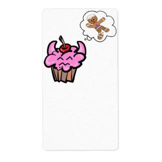 Funny Evil Cookie Killer Cupcake Label
