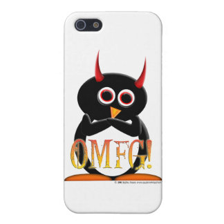 Funny Evil Penguin iPhone Case