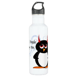 Funny Evil Penguin Stainless Steel Water Bottle
