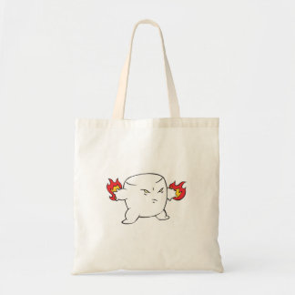 funny evil roasted marshmallow budget tote bag