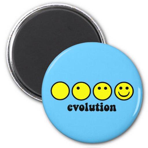 Funny evolution 2 inch round magnet