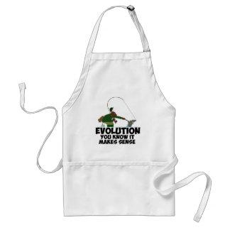 Funny evolution adult apron