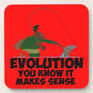 Funny evolution beverage coaster