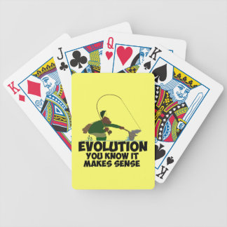 Funny evolution bicycle playing cards