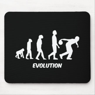 funny evolution bowling mouse pad