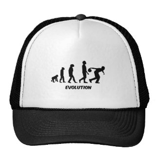 funny evolution bowling trucker hat
