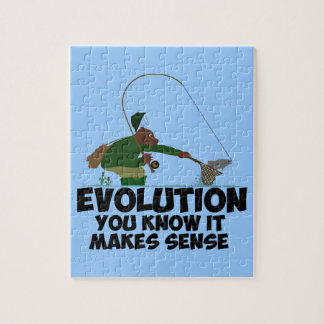 Funny evolution jigsaw puzzle