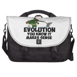 Funny evolution laptop bags