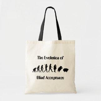 Funny Evolution of Man Parody Canvas Bag