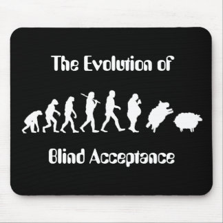Funny Evolution of Man Parody Mouse Pad