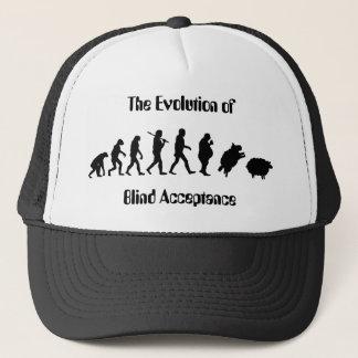 Funny Evolution of Man Parody Trucker Hat