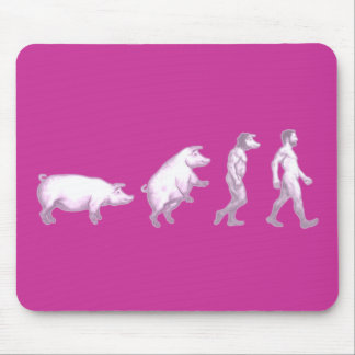 Funny evolution of men mouse pad