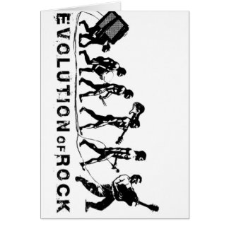 Funny Evolution of Rock Greeting Card
