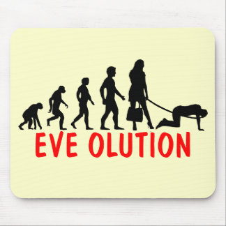 Funny evolution of women mouse pad