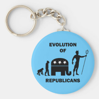 Funny evolution Republican Keychain
