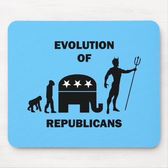 Funny evolution Republican Mouse Pad