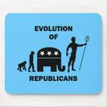 Funny evolution Republican Mousepads