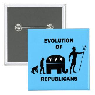 Funny evolution Republican Pinback Button