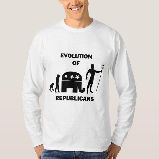 Funny evolution Republican T-Shirt