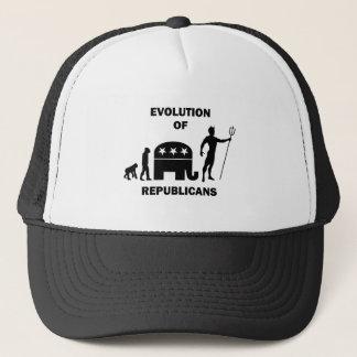 Funny evolution Republican Trucker Hat