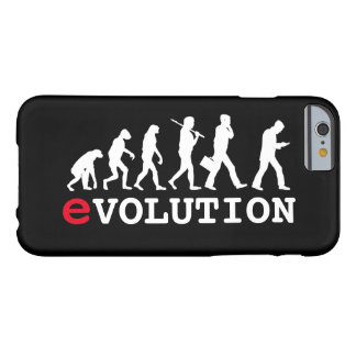 Funny Evolution Smartphone Addict Barely There iPhone 6 Case