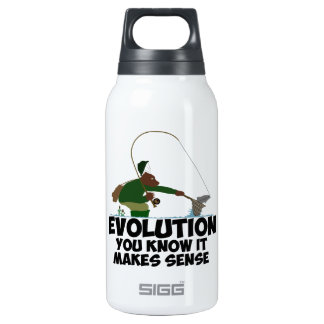 Funny evolution thermos water bottle