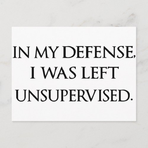 Funny Excuse Quote Witty Manly Typography Quotes Postcard