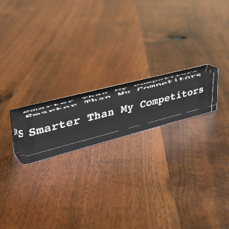 Funny Executive Desk Name Plates