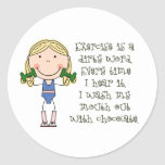 Funny Exercise Gift Classic Round Sticker